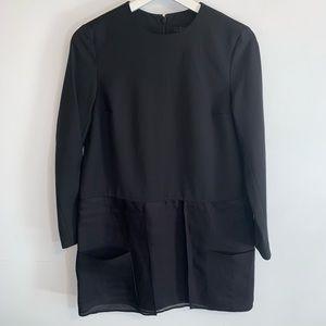 COS A-Line 4 Wool Blend Dress Black